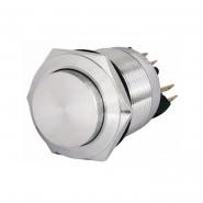 Кнопка 1NO+1NC металлическая с фиксацией с отступом 22мм TYJ 22-321 АСКО-УКРЕМ