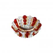 Светильник точечный MR-16 CD2121 50W прозрачный красный/золото