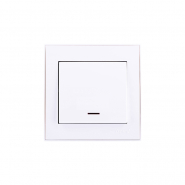 Выключатель с подсветкой белый Lezard серия RAIN