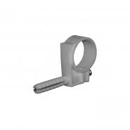 Обойма для труб и кабеля Д.9-10мм/100шт/серый