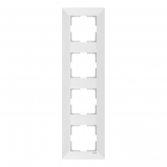 Рамка 4-я вертикальная белая MERIDIAN