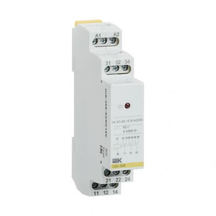 Промежуточное реле IEK OIR 3 конт (8А). 12 В AC / DC OIR-308-ACDC12V - 1