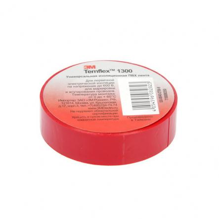 Изолента Temflex 1300 Лента 13mm x 18m красный 3M - 1