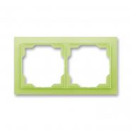Рамка двойная белый/зеленый лед Neo