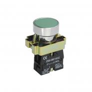 Кнопка  LAY5-BA31без подсветки зелёная 1з ИЕК