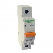 Автоматический  выключатель Schneider Electric  ВА 63 1п 40А