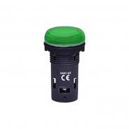 Лампа сигнал. LED матовая ECLI-240A-G 240V AC (зеленая)