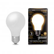 Лампа FIL Gauss A60 10W E27 2700K OPAL