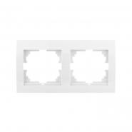 Рамка двойная горизонтальная белый DERIY LEZARD