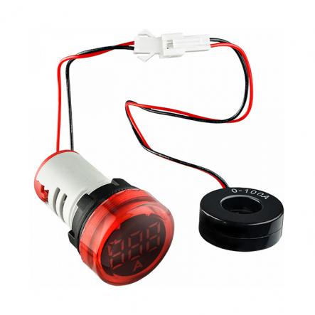 Вольтметр круглый ED16-22VD 30-500В АС (красный) врезной монтаж - 1