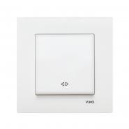 Выключатель одноклавишный  реверсивный (промежуточный) белый VIKO Серия KARRE