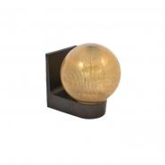 Светильник настенный шар дымка ребристый Е-27, 623 АСКО