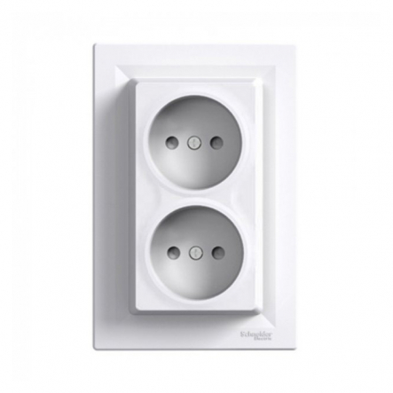 Двойная розетка Schneider Electric Asfora EPH9700121, белая - 1