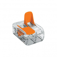 Клеммник   2* (0,08-4мм.кв.)/32А самозажимн. проз.-оранж. Китай