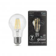 Лампа Gauss LED Filament Graphene  A60  E27 15W 4100К