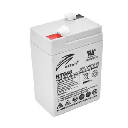 Аккумуляторная батарея 6V 4,5Ач RITAR RT6 (гелевая) - 1