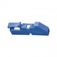 Изолятор угловой для нулевой шины  синий ИЕК