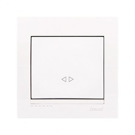 Выключатель перекрестный одноклавишный Lezard Deriy без подсветки 10 А 250В IP20 белый 702-0202-107 - 1