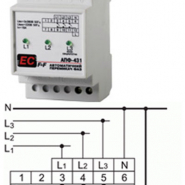Автомат. переключатель фаз PF-431 (АПФ-431) 380В 16А 3S Электросвит