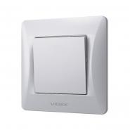 Выключатель одноклавишный VIDEX Binera Серебряный шёлк (VF-BNSW1-SS)
