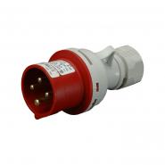 Вилка промышленная IVN (IP 44), 16А, 400V,4 п SEZ