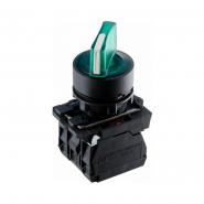 Кнопка зеленая поворотная 2-х поз. с подсветкой TB5-AK123M5 ACKO-УКРЕМ