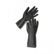 """Перчатки резиновые КЛС чёрные размер """"XL"""""""