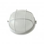 Светильник НПП 1102 белый-круг 100 Вт. металлический корпус IP54 с решеткой