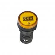 Вольтметр цифровой AD22-22DVM желтый д.22мм DC 5-30B АСКО-УКРЕМ