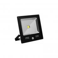 Прожектор 1LED/50W-белый 2700K 230V серый (IP65) 285*235*152мм