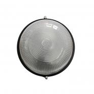 Светильник влагостойкий MIF 010 60W, коло, чорний, без решітки