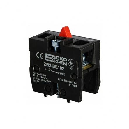 Блок-контакт для постов ZB2-BE102 N/C (8536508000) Аско-Укрем - 1