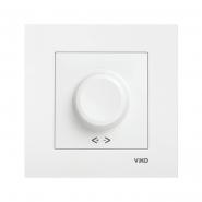 Светорегулятор поворотный 1000Вт белый KARRE VIKO