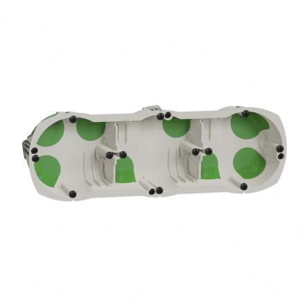 Коробка монтажная установочная Multifix Air 3-х местная г/к для деревяных домов/негорючая - 1