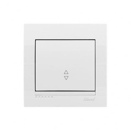 Выключатель проходной белый DERIY LEZARD - 1