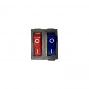 Переключатель клавишный КП-53 220В к/син15А 6кон TAKEL