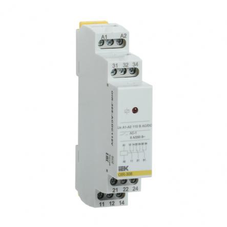 Промежуточное реле IEK OIR 3 конт (8А). 230 В AC OIR-308-AC230V - 1