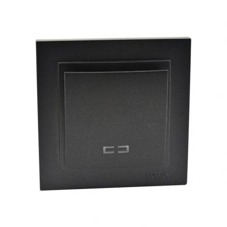 Выключатель 1 кл. с подсветкой Mono Electric, DESPINA ( графит ) - 1