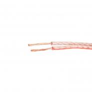 Провод установочный с медной жилой плоский ШВП-2 2х1,5 прозрачный