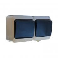 Блок - 2 выключ. (одноклав+одноклав.)чёрн. клавиши 2ВЗ10-1-IP44N