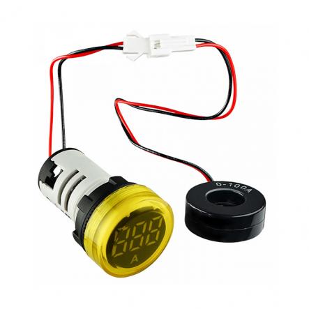 Вольтметр круглый ED16-22VD 30-500В АС (жёлтый) врезной монтаж - 1