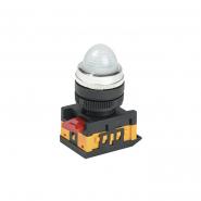 Светосигнальный индикатор IEK AL-22 d22мм белая неон 240В цилиндр
