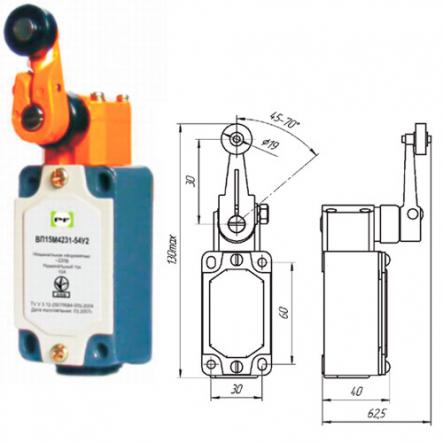 Выключатель концевой Промфактор ВП15 М4231 IP54 - 1