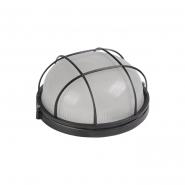 СветильникНПП 1102 чёрный-круг 100 Вт. металлический корпус IP54 с решеткой