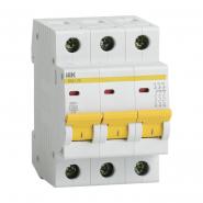 Автоматический выключатель IEK ВА47-29 3p 10A D