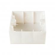 Коробка для наружного монтажа крем KARRE VIKO
