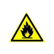 """Наклейка """"Осторожно с огнем!"""" 250*250"""