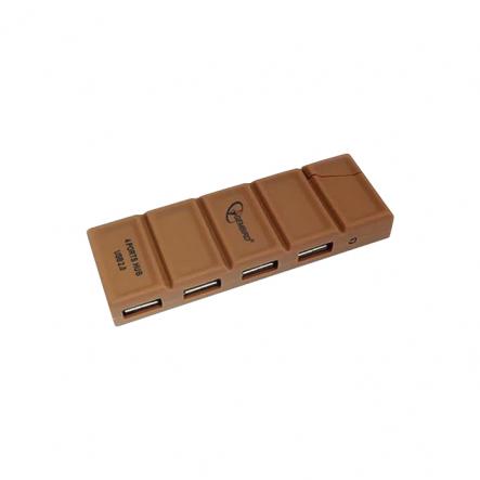 "Хаб на 4 USB 2.0 порта, ""шоколад"" - 1"