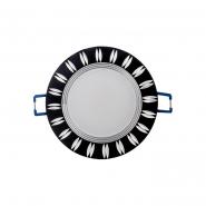 Светильник светодиодный Feron 5W черный круг 400Lm 4000K 93*28mm d68mm