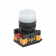 Светосигнальный индикатор IEK AL-22TE белая. d22 240B цил.